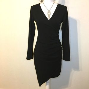 Adelyn Rae  Ruched Body con Little Black Dress